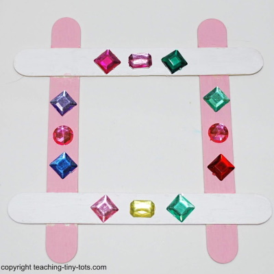 Easy popsicle frame.