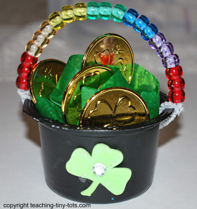 Make a Pot of Gold for St. Patrick's Day.