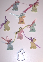 Easter Rabbits made with Salt Dough