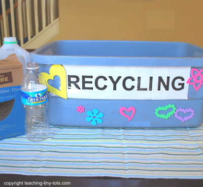 Make a recycle bin with your child.