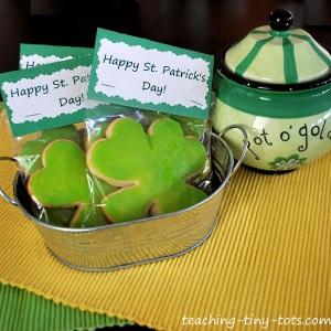 shamrock cookie gift