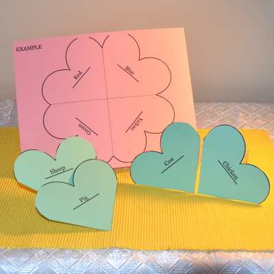 Make a shamrock puzzle for a learning center.