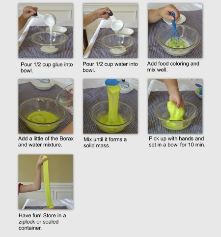 The Steps How To Make Slime