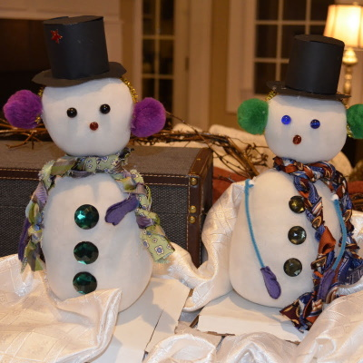 Snowman classroom craft.