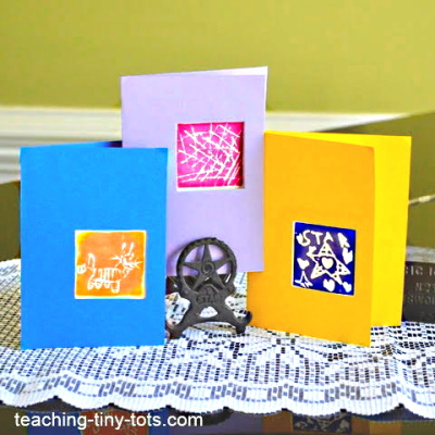 Making cards with Homemade Stamps