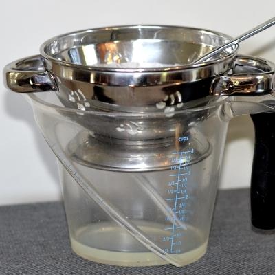 straining yogurt to make it thicker