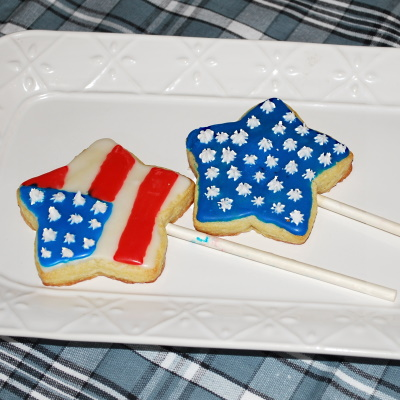 Sugar cookie stars for the Fourth of July