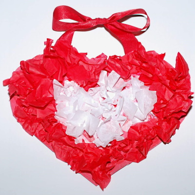 How to make a Valentine tissue heart.