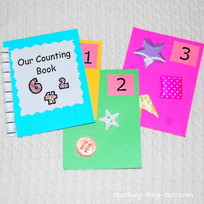 A cute touch and feel numbers book  you can make.