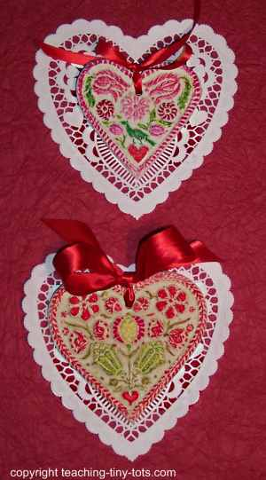 Hearts made with Salt Dough for Valentines