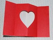 How to make a pop up Valentines Day card step 2.