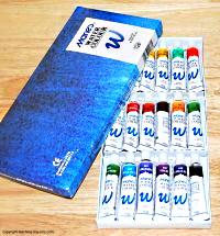Tubes of watercolors