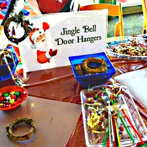 Materials to make a Christmas Door Hanger Wreath