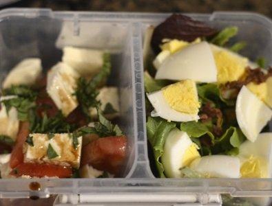 Mozzarella and tomato basil salad