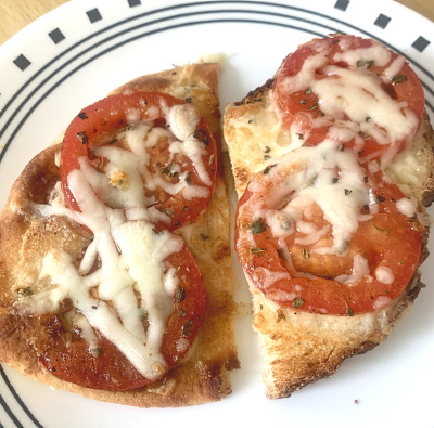 Bruschetta Toast on Artisan Bread and Naan Bread