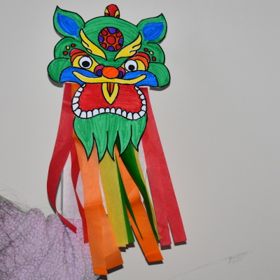 Make this dragon puppet for Chinese New Year.