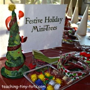 Festive Christmas Tree Craft for kids