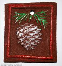 Making cinnamon ornaments.