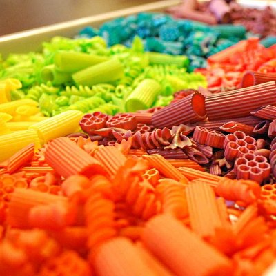 Make this vibrant colored pasta for art projects.