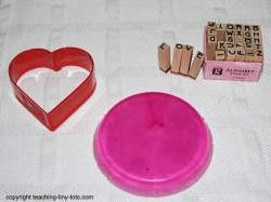 using cookie cutters to make soap