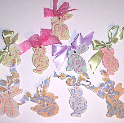 Copper Molds to print on salt dough ornaments.