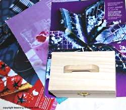Find magazine pages you want to use to decoupage the box.