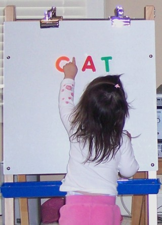 magnetic easel and white board