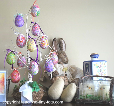 Decorative tree with Handmade Easter Eggs