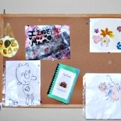 bulletin board to pin children's art work