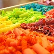 colored pasta