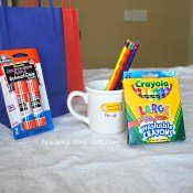 Crayons and markers for Party Favors