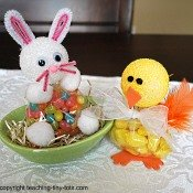 jellybean bunny and lemondrop duck for Easter
