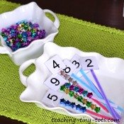 number beads to reinforce counting