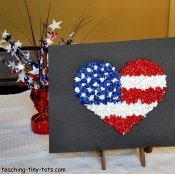 patriotic heart flag craft