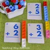 snap cubes to add and subtract