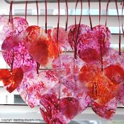 stained glass heart mobile
