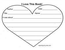free printable Valentines Book Report