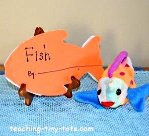 Make a fish shape book.