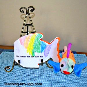 Making a fish shaped book.
