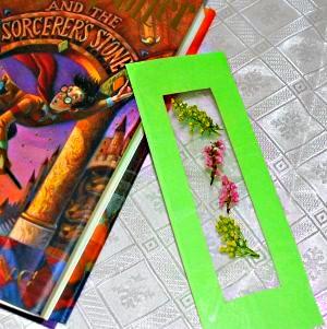 Flower pressed bookmark