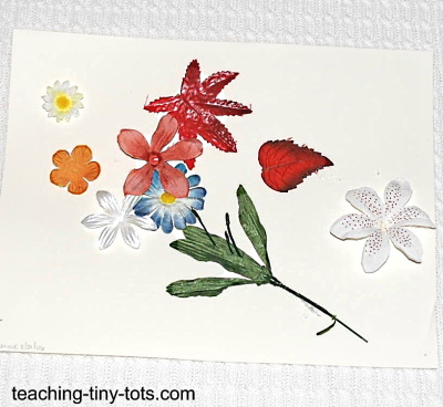 Make a flower collage with your child.