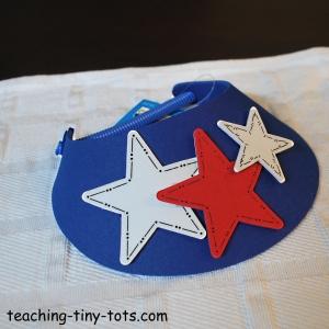 foam visor for the 4th of July