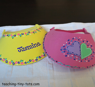 decorating foam visors for kids