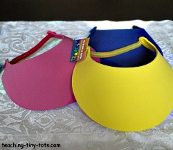 foam visors to decorate