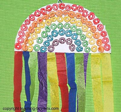 Make a fruit loop rainbow.