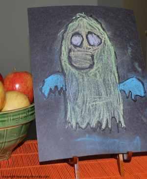 Chalk Ghost Art Activity
