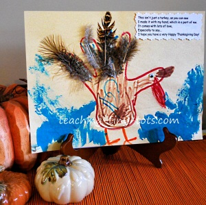 handprint turkey and poem