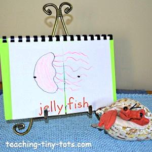 Make a flip ocean book for kids.