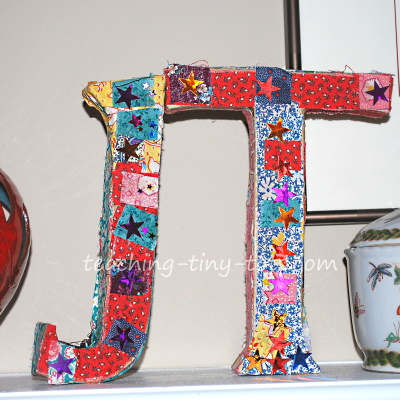 Decoupage Initials with Fabric or Paper