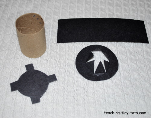 How to make a mini Lincoln top hat for President's Day.